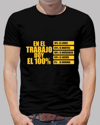 Tee shirts homme au travail donner à 100% 16.90