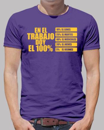 Tee shirts homme au travail donner à 100% 17.50