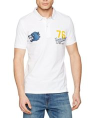 Celio-Geloup-Polo-Homme-Blanc-Off-White-Large-Taille-Fabricant-L-0