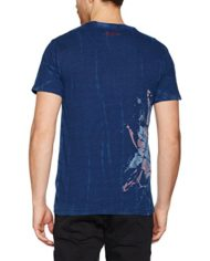 Desigual-TSFLOR-Dye-T-Shirt-Homme-Bleu-Azul-Tinta-5096-X-Large-0-0