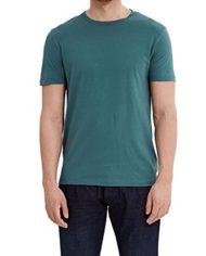 ESPRIT-Collection-037eo2k001-T-Shirt-Homme-Vert-Emerald-Green-Small-0