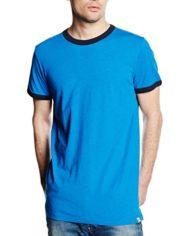 Jack-Jones-T-Shirt-Manches-Courtes-Homme-Bleu-Large-0