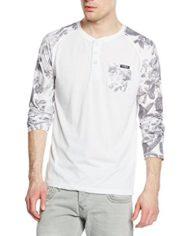 Kaporal-Toner-T-shirt-Col-ras-du-cou-Manches-longues-Homme-Blanc-White-Medium-Taille-fabricant-M-0
