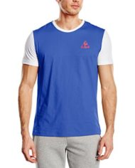 Le-Coq-Sportif-T-Shirt-Manches-Courtes-Homme-Bleu-Small-0