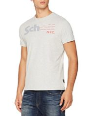 Schott-Nyc-Star-T-Shirt-Homme-Gris-Heather-Grey-X-Large-Taille-Fabricant-XL-0