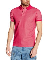 TOMMY-HILFIGER-Contrast-Structure-Polo-SS-SF-T-Shirt-Homme-Multicolore-Granita-PT-Flamingo-Pink-821-XXL-0