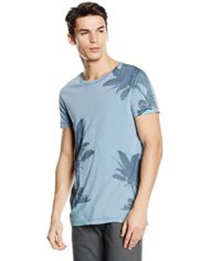 BOSS-Orange-Tammaro-2-T-Shirt-Manches-Courtes-Homme-Bleu-lightpastel-Blue-456-Large-Taille-fabricant-Large-0