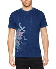 Desigual-TSFLOR-Dye-T-Shirt-Homme-Bleu-Azul-Tinta-5096-X-Large-0