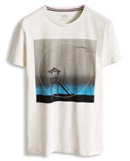 ESPRIT-T-Shirt-Manches-Courtes-Homme-Blanc-Large-0-1