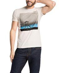 ESPRIT-T-Shirt-Manches-Courtes-Homme-Blanc-Large-0