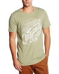 JACK-JONES-JORTALLY-TEE-SS-CREW-NECK-T-Shirt-Homme-Vert-Oil-Green-Large-0