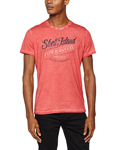 Pepe Jeans Gemini 3 T Shirt Homme Rouge Terracota Xx Large Taille Fabricant Xxl T Shirt