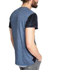 edc-by-Esprit-T-Shirt-Manches-Courtes-Homme-Bleu-Large-0-0
